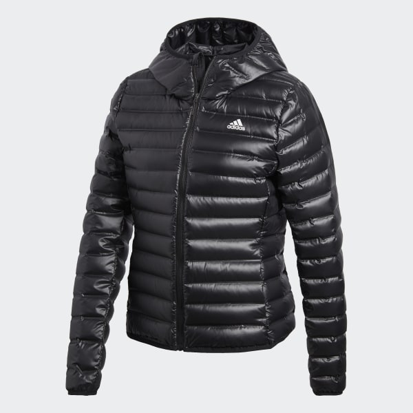 new style 9c4c9 0d4da adidas Varilite Hooded Daunenjacke - Schwarz | adidas Austria