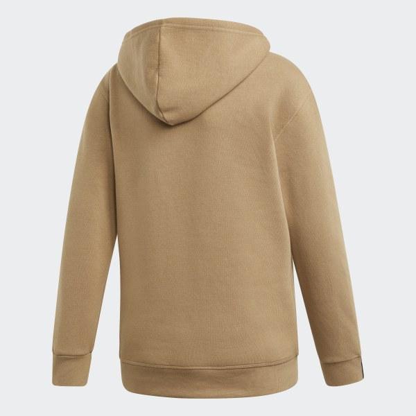 Adidas brown oversized hoodie sweater dress