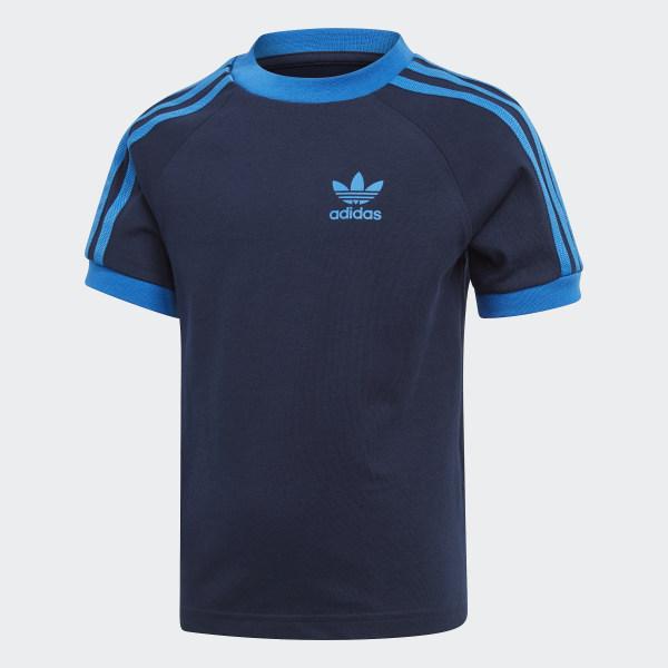 famosa marca de diseñador brillo de color 60% de descuento Polera 3 Tiras - Azul adidas   adidas Chile