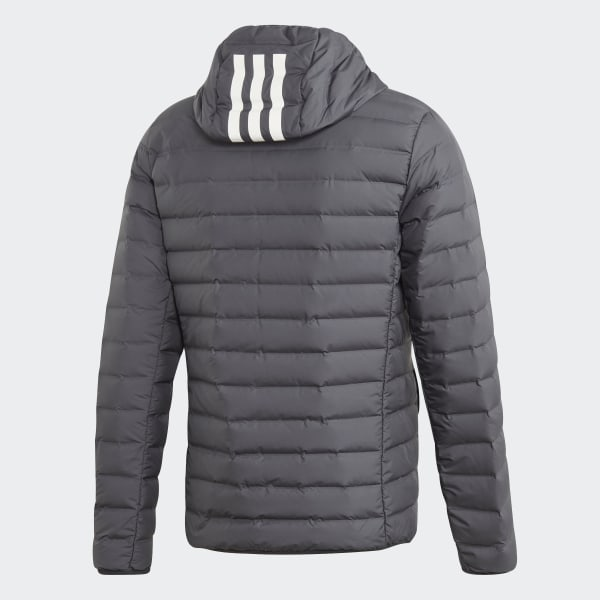 adidas Varilite Soft 3 Stripes Hooded Jacket Grey | adidas US