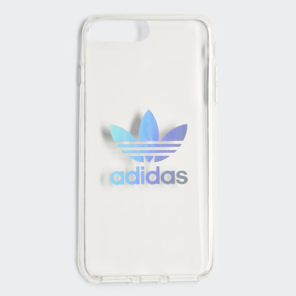 Adidas Holographic Clear Case IPhone 8 Plus - Silver | Adidas US