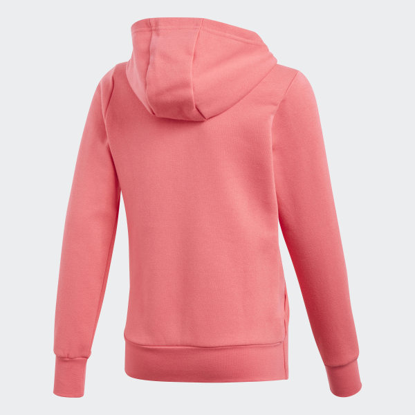 adidas Girls' Fleece 3 Stripe Hoodie