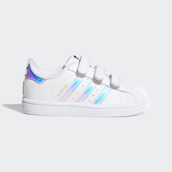 adidas superstar metallic silver stripes