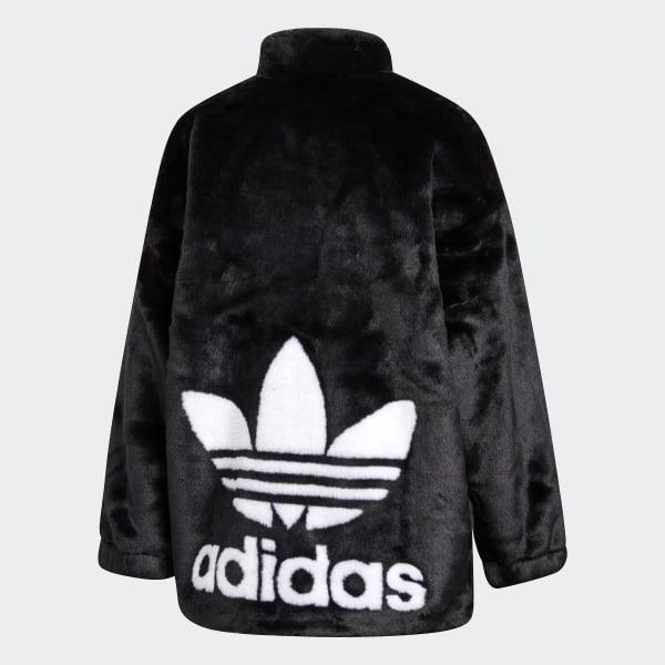 adidas originals hooded jacket with monochrome trefoil logo back
