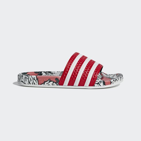 adidas Adilette Slides - Red | adidas US