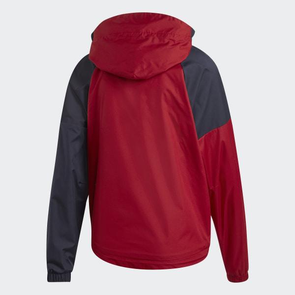 Adidas Womens Performance Basic Jacket MaroonWhite