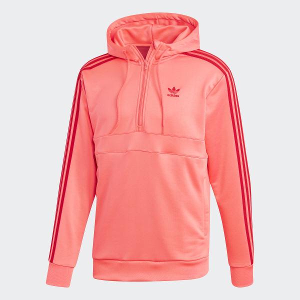 adidas 3 Stripes Hoodie Orange | adidas US