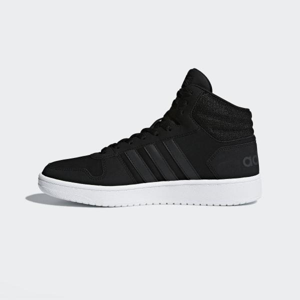 Details zu Adidas Hoops 2.0 Mid Herren High Top Sneaker DB0113 Schwarz