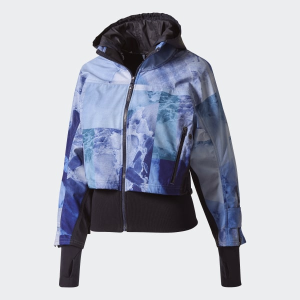 adidas Run Trail Soft Shell Stone Print Jacket Blue | adidas US