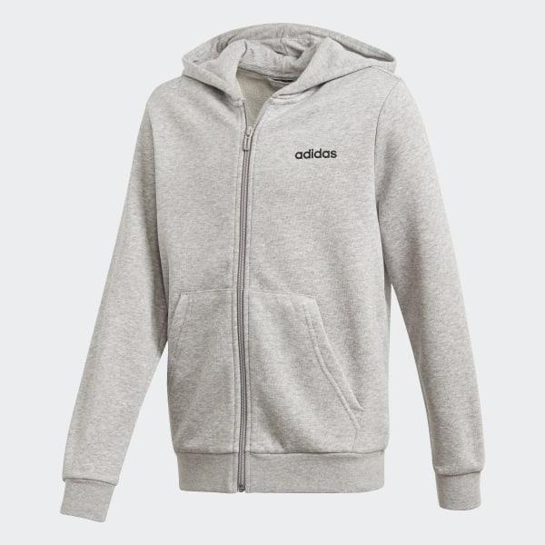 Chaqueta con capucha Essentials Linear Gris adidas | adidas España
