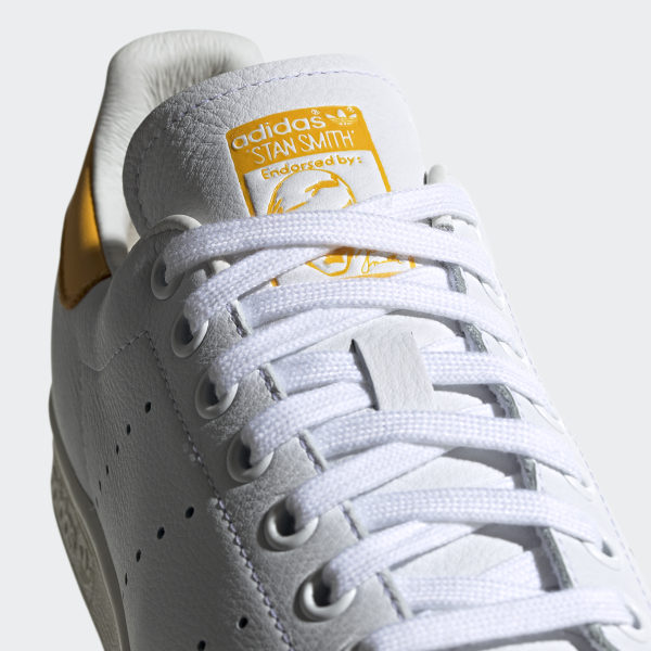 adidas Originals Stan Smith W Off White Active Gold Yellow Women Shoes EF9320