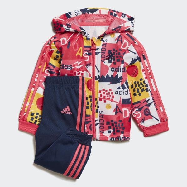 adidas Shiny Hooded Jogginganzug Rosa   adidas Deutschland