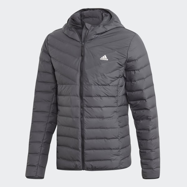 adidas Varilite Soft 3 Streifen Hooded Jacke Grau | adidas Deutschland