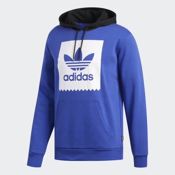 adidas Trefoil Solid Hoodie Blue | adidas Australia