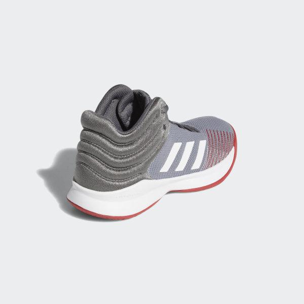 Adidas Pro Spark 2018 Grey Basketball Shoes girls