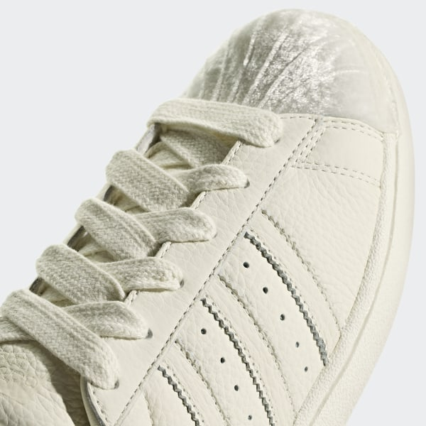 The adidas SUPERSTAR 80S superstar [LotCG7085] sneakers white beige three stripe new work trend shoes men's cushion which is easy to wear takes the
