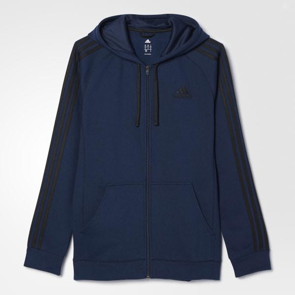 adidas Essentials Cotton Fleece Hoodie Blue | adidas US