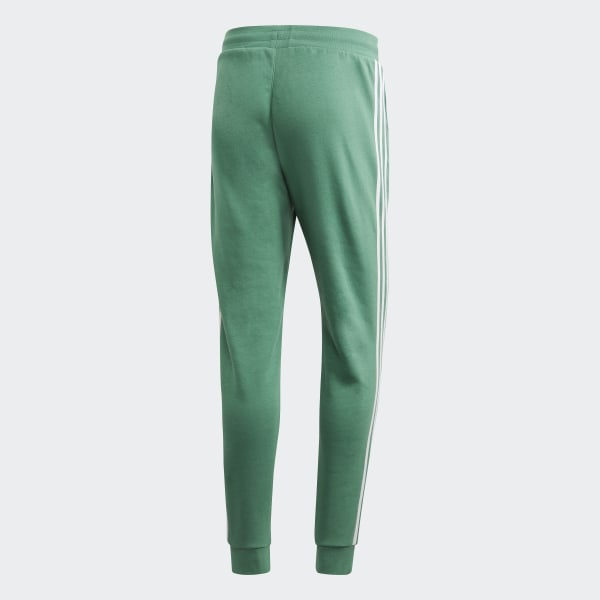 adidas Originals adicolor three stripe trefoil legging in green