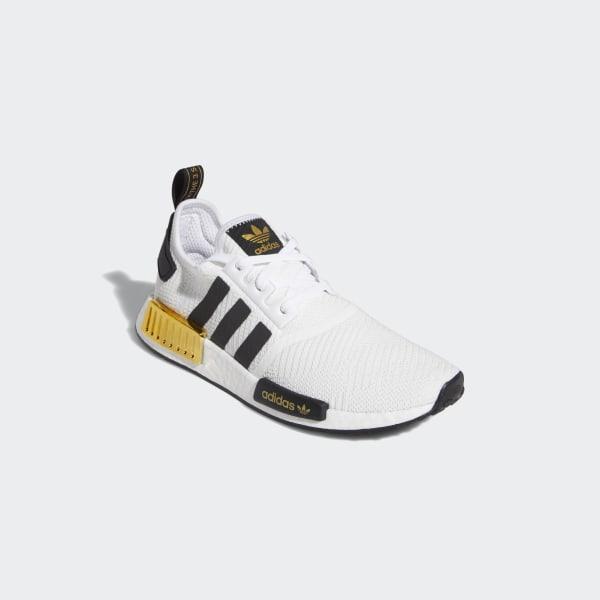 Adidas Originals NMD R1 Off White Gold Metallic NWT