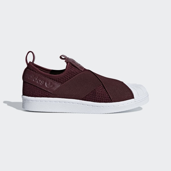 adidas Superstar Slip on Shoes Burgundy | adidas US