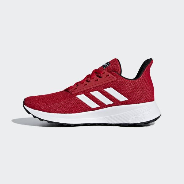 RED ADIDAS Boys Duramo 9 Sneaker