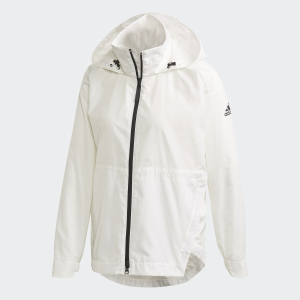 Essentials 3 Stripes Wind Jacket White Mens | Wind jacket