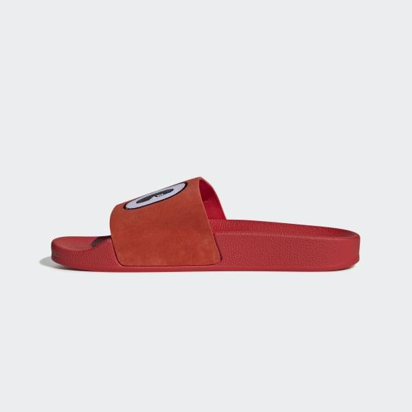 adidas Adilette Slides - Red   adidas US