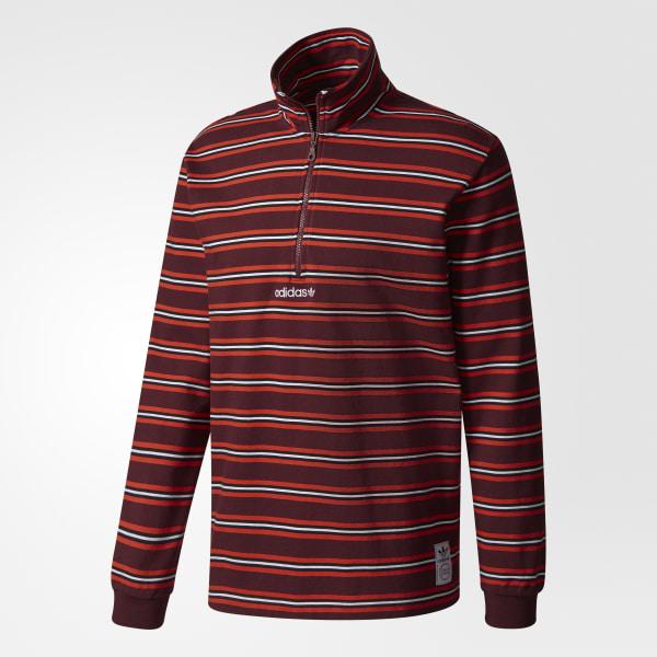 Men's Stripe Mock Neck Sweatshirt