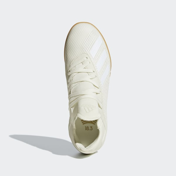 Détails sur Chaussure de futsal adidas X Tango 18.3 IN enfant Off white White Core black