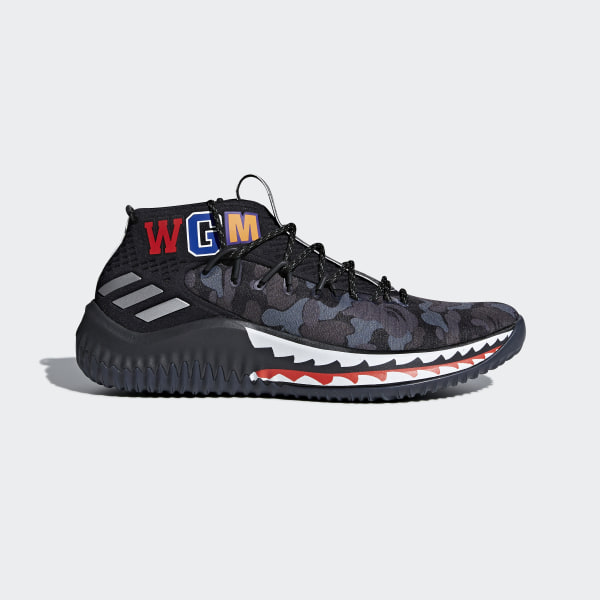2018 New adidas Dame 4 Black Red Shoes For Sale