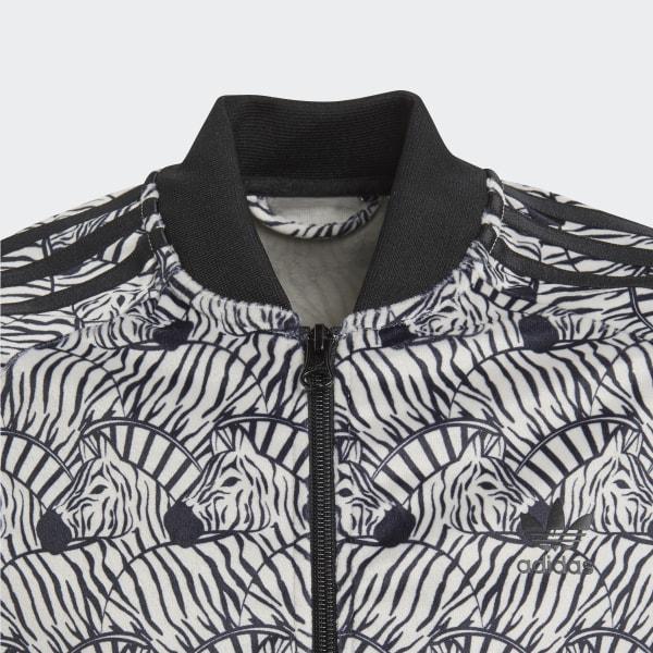 adidas Zebra SST Track Jacket Brown   adidas US