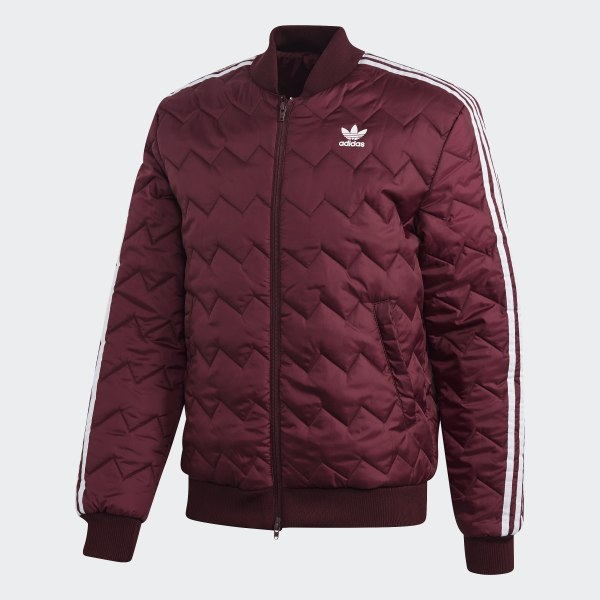 adidas SST Quilted Jacket Burgundy | adidas UK