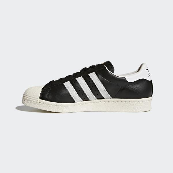 adidas superstar black white chalk