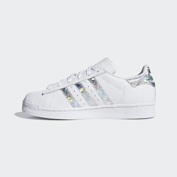 adidas Originals Superstar Holographic White Trainers at