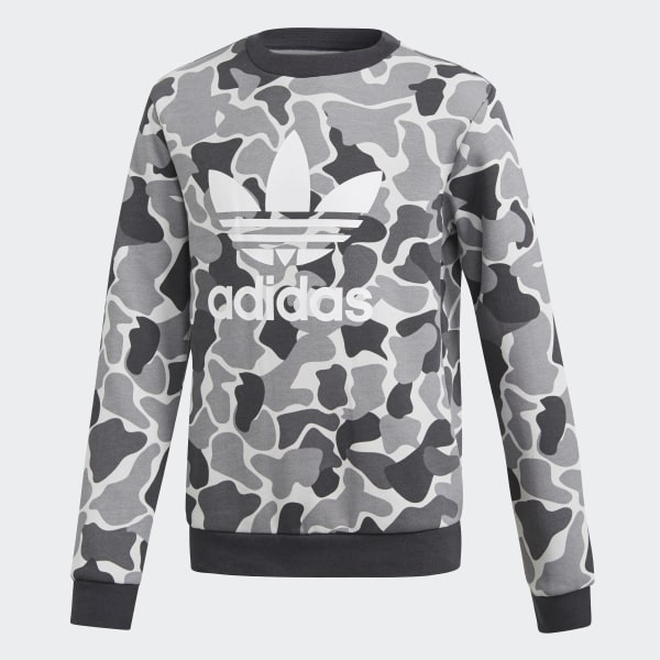 adidas Originals Boys' Camo Trefoil Crew Sweatshirt in 2019