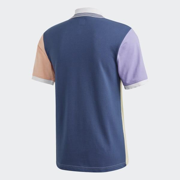 Adidas Nora Vasconcellos Polo Shirt Mist SunGlow PinkLight PurpleNight Marine