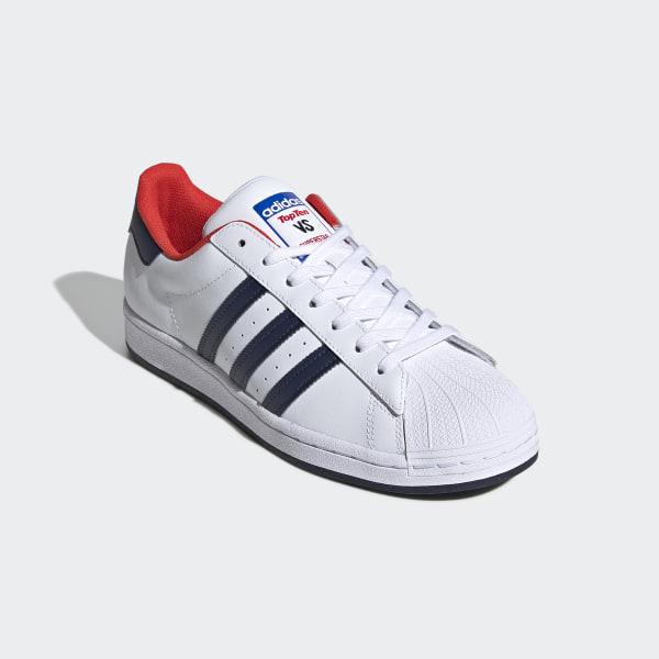 adidas superstar navy red