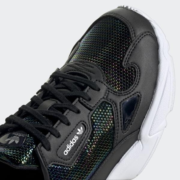 Black & Gold Shimmer Adidas Shoes
