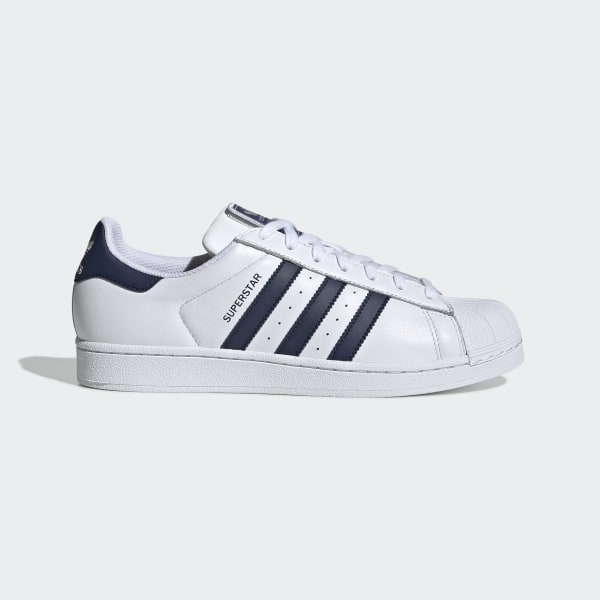 adidas superstar 80s vintage white y navy
