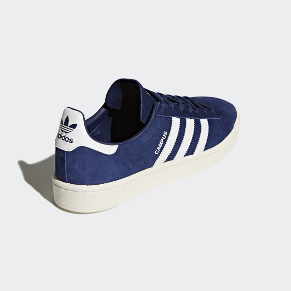 Adidas Campus black white blue Men's low top sneakers nubuck