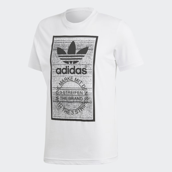 Adidas Originals Camiseta Color Pattern Tongue Label (white