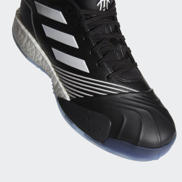 Details about Adidas Crossover Basketball Sneaker Shoes Mens SZ 8 Black White Silver