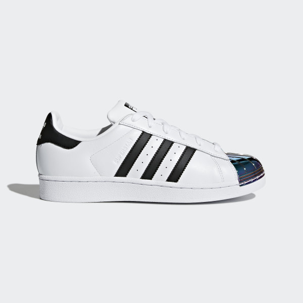 adidas superstar metal toe white