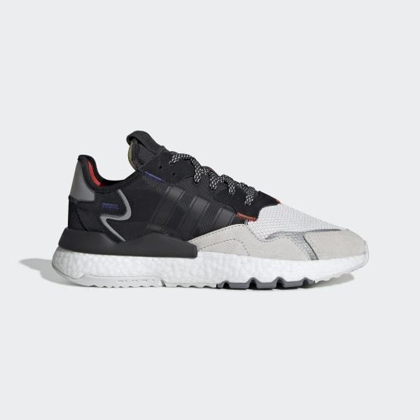 ADIDAS NITE JOGGER Boost Black Grey Act Red Men's Trainers All Sizes