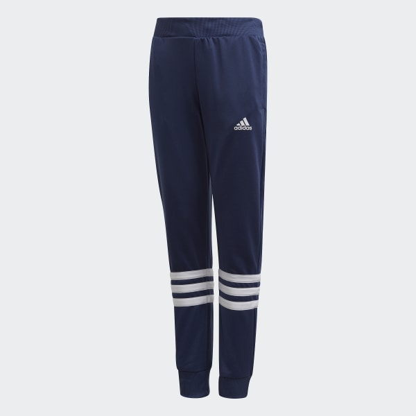 adidas Hooded Track Suit Girls core pink tech indigo white