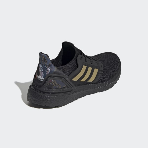 adidas ultra boost triple black gold
