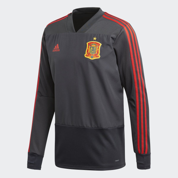 Sudadera entrenamiento España Dgh Solid Grey / Night Grey / Red CE8821
