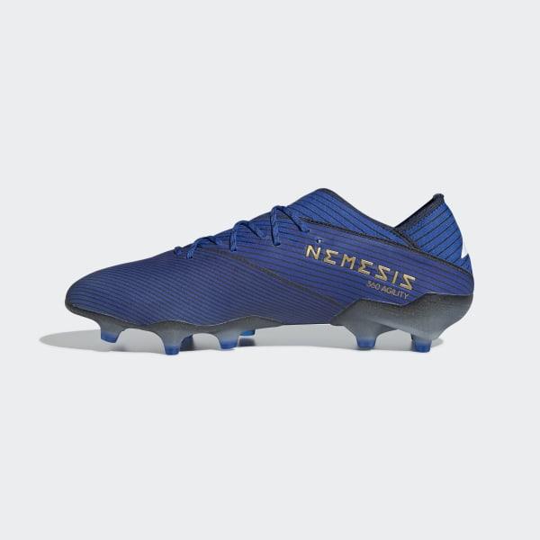 Scarpe da calcio Nemeziz 19+ Firm Ground Blu adidas