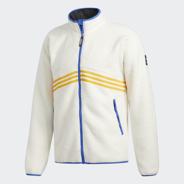 adidas Sherpa Jacket White   adidas US