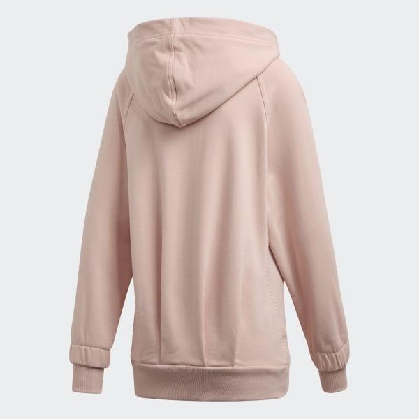 Women's Pink Pink Essentials Training Hoodie | Adidas by